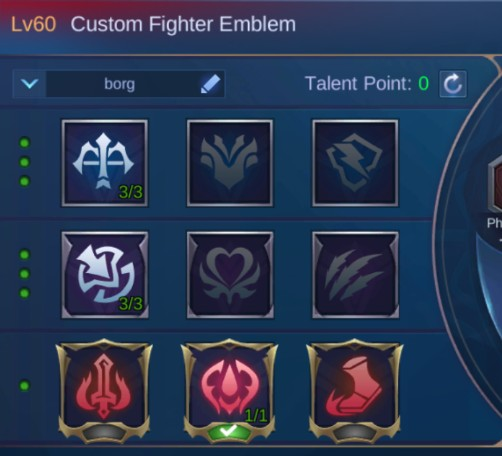 Mobile Legends X.Borg Guide Best Emblem