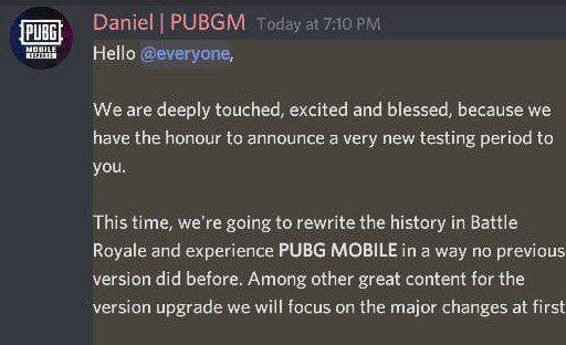 PUBG Mobile Erangel 2.0 beta announcement