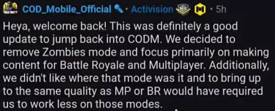 COD Mobile Zombies mode removed, Call of Duty Mobile Zombies