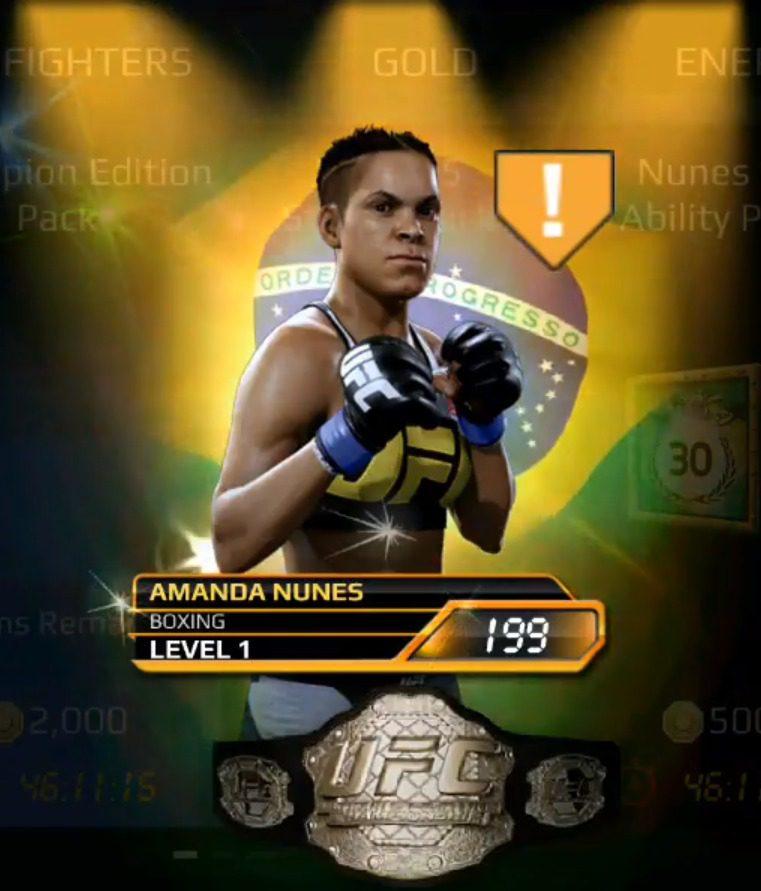 UFC Mobile best fighters, Amanda Nunes