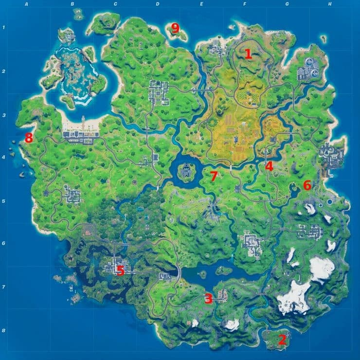 Fortnite XP Coins Locations