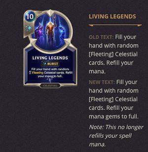 Legends of Runeterra Patch 1.12, LOR Patch 1.12