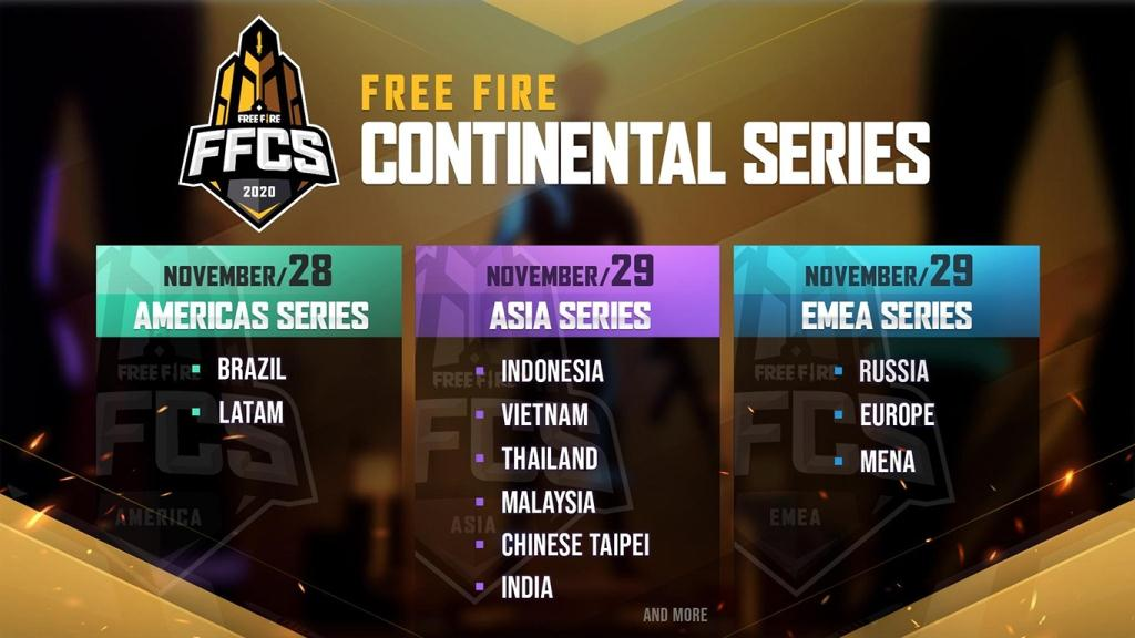 FFCS Free Fire Continental Series 2020