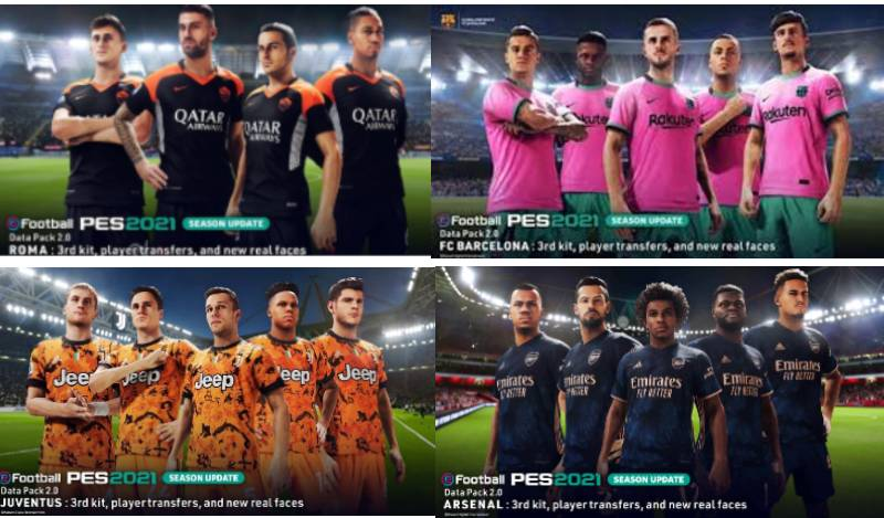 pes 2021 datapack 2.0 new third kits