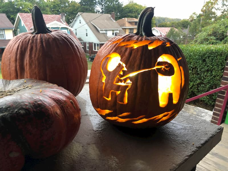 among us, among us art, among us pumpkin curvings