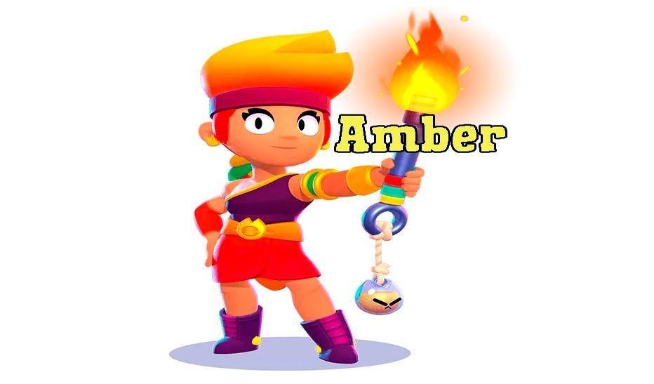 amber, brawl stars amber, legendary brawler