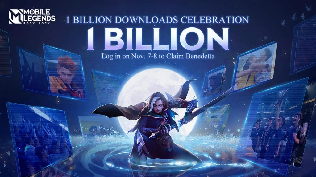 Mobile Legends 1 billion downloads free hero