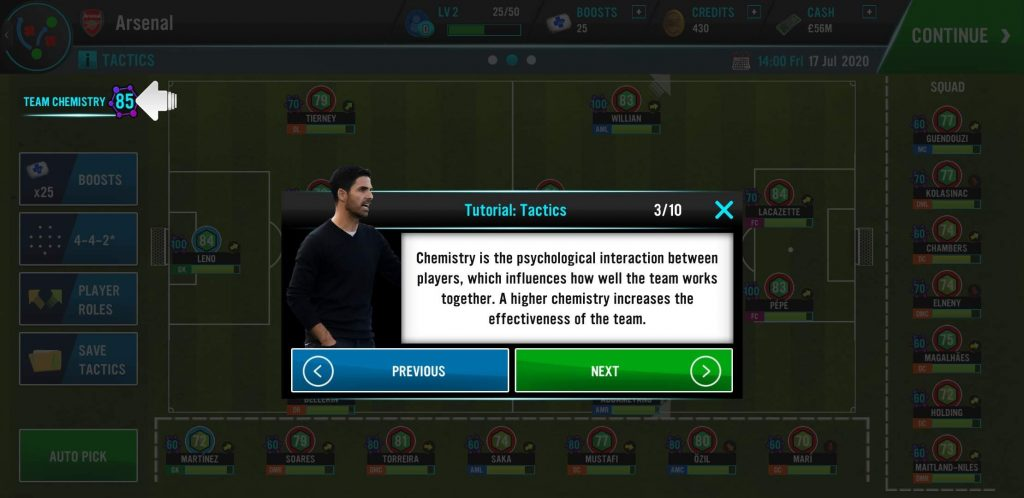 Soccer Manager 21 Chemistry