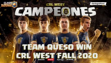 CRL West fall 2020 champions