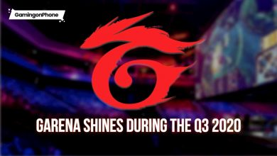 Garena shines during the Q3 2020