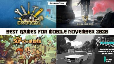 best android and iOS games november 2020