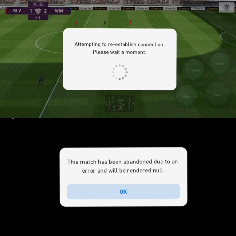 PES 2021 report online match cheaters