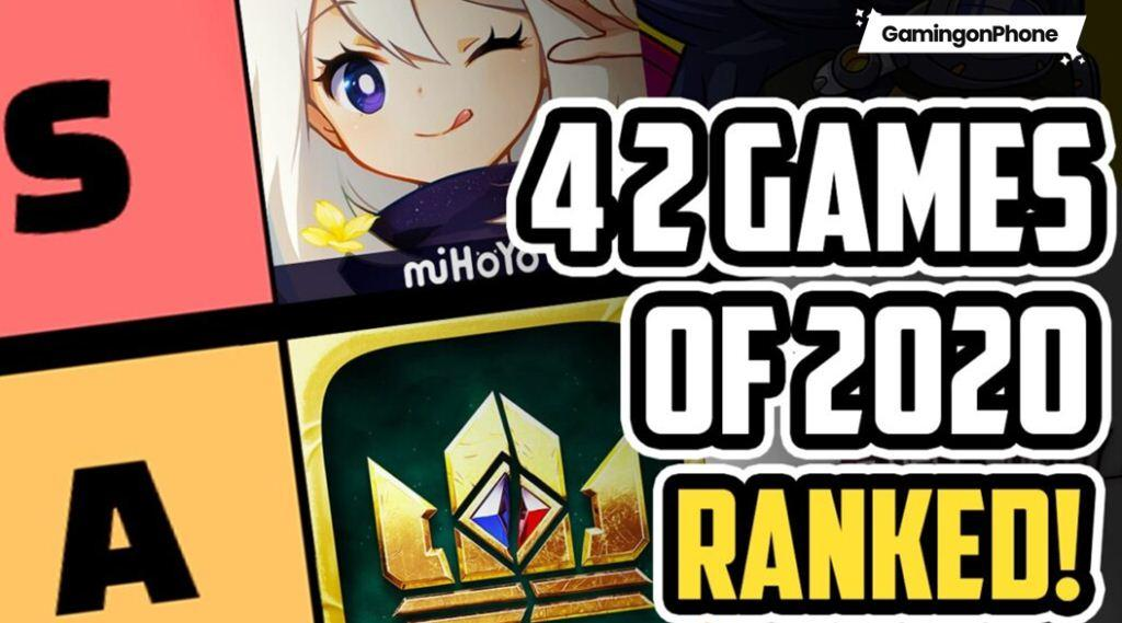 Mobile Gaming Tier List, best games of 2020