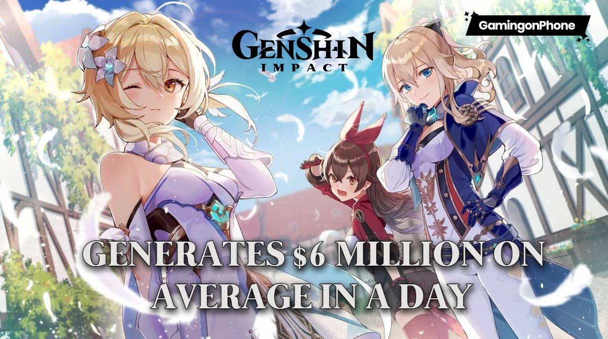 Genshin Impact generates $6 million a day