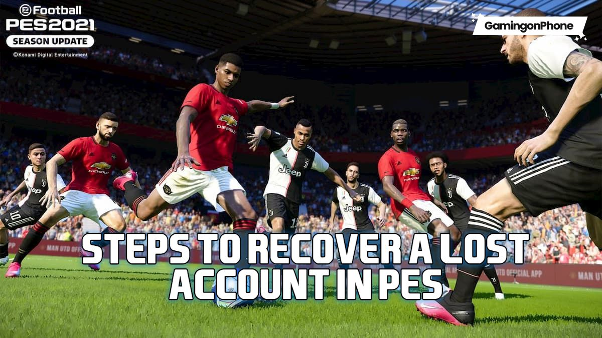 Steps to recover a lost account in PES