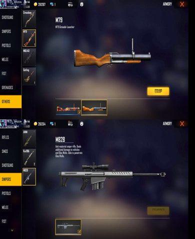 Best gun combinations in Free Fire