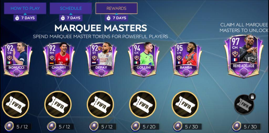 FIFA Mobile 21 Marquee Stars