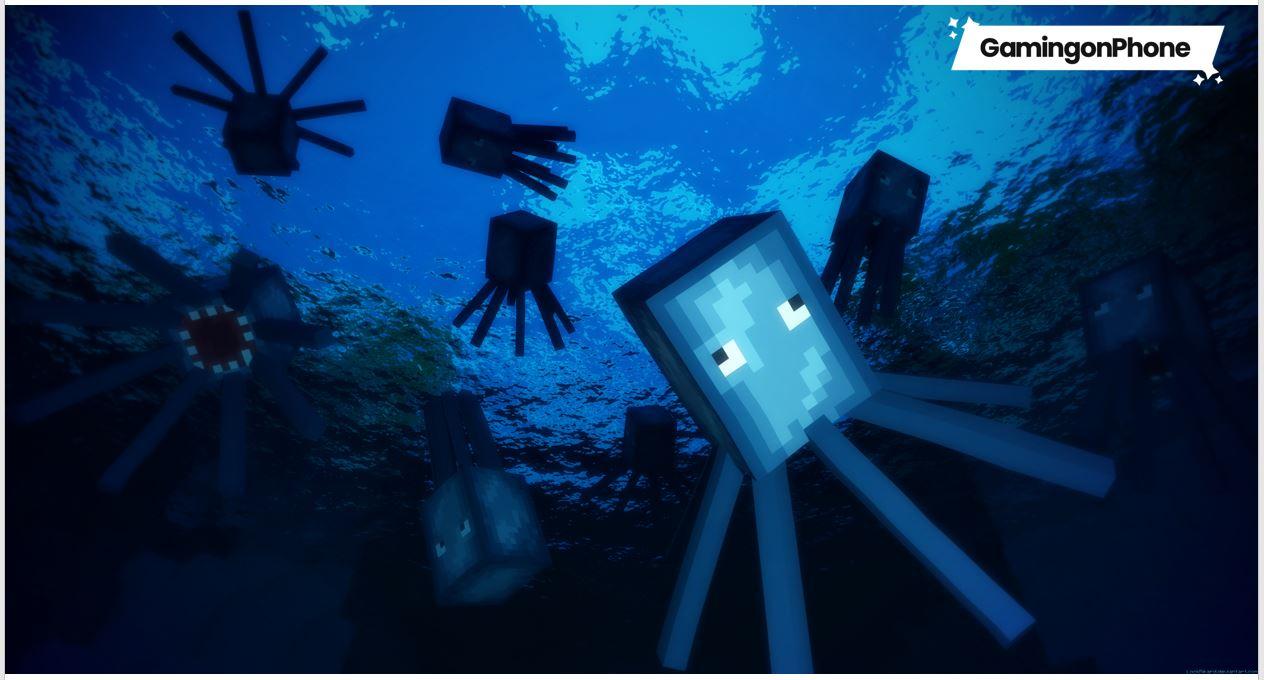 minecraft bedrock glow squids