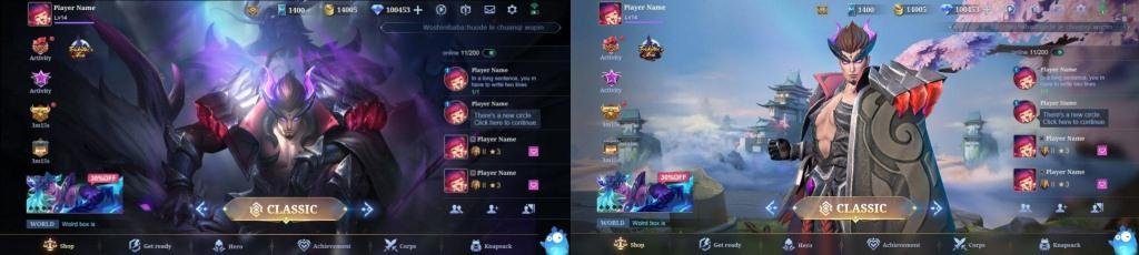 Mobile Legends visuals UI
