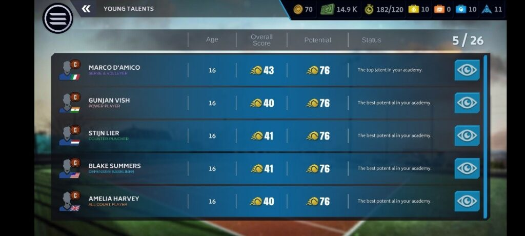 Tennis Manager 2021 Mobile