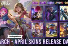 Mobile Legends March April Skins