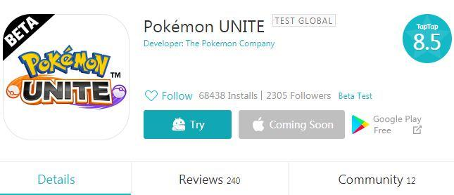 Pokemon Unite beta download