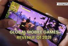 global mobile games revenue Q1 2021