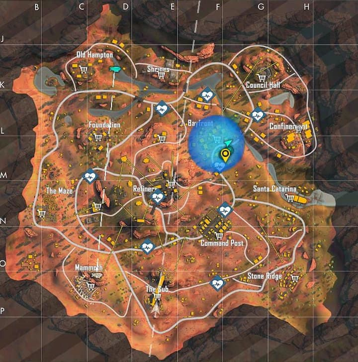 Free Fire Revival Points locations