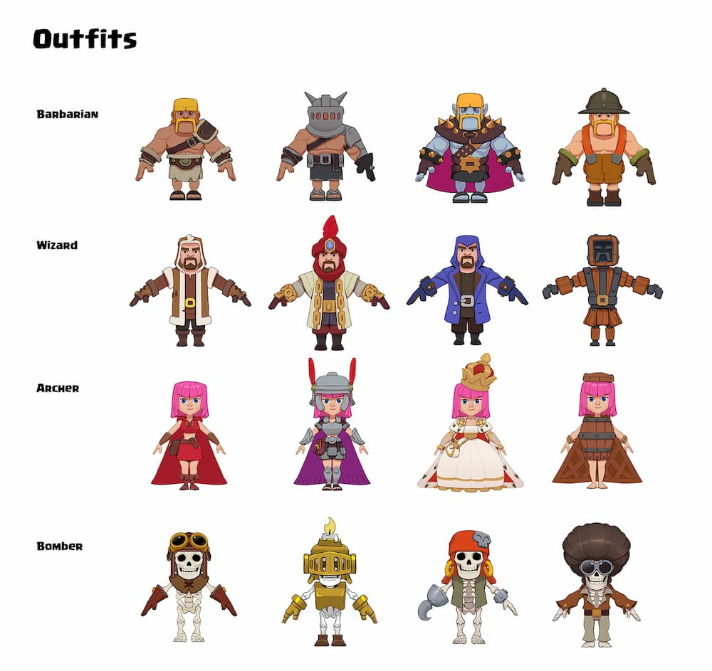 clash heroes, clash heroes characters