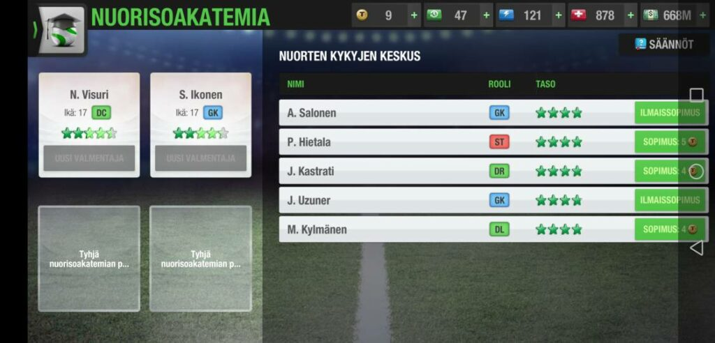 Top Eleven Youth Academy