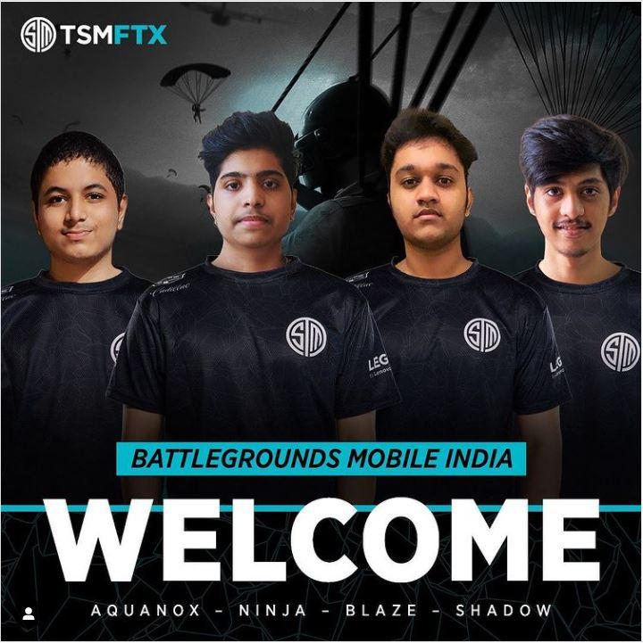 BGMI TSM India new roster