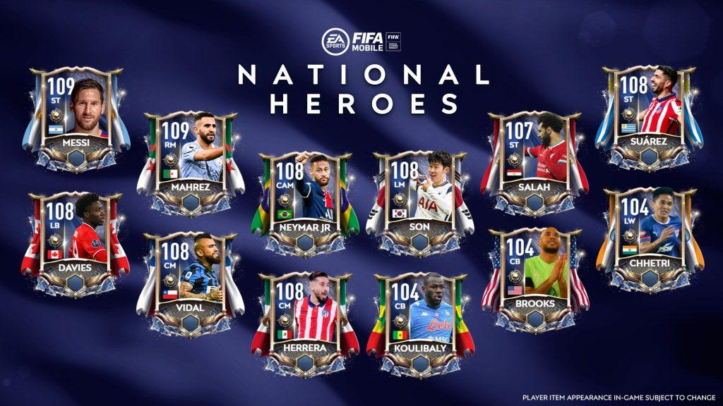 National Heroes worldwide players