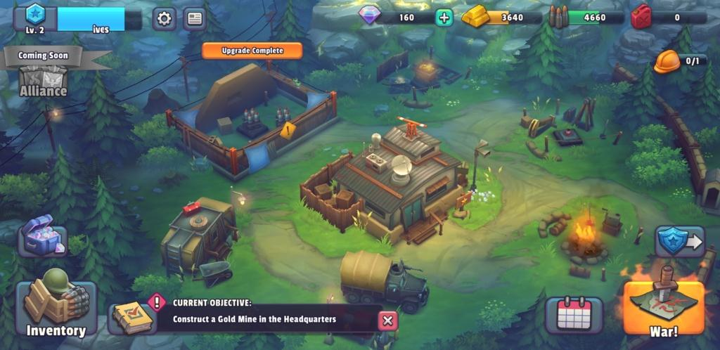 guns up gameplay building